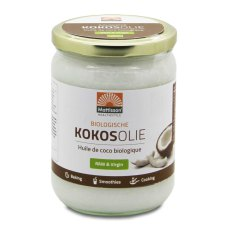 500 ml Mattisson Kokosolie Raw Virgin Biologisch