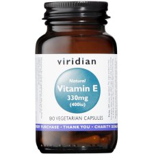 90 capsules Viridian Vitamin E 330 mg 400IU Natural