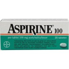 20 tabletten Bayer Aspirine 100