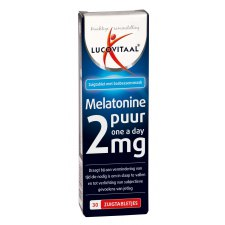 30 zuigtabletten Lucovitaal Melatonine Puur 2 mg One a Day