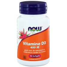 90 softgels NOW Foods Vitamine D3 400 IE
