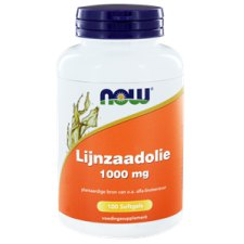 100 capsules NOW Foods Lijnzaadolie 1000 mg