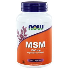 120 capsules NOW Foods MSM 1000 mg