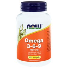 100 softgels NOW Foods Omega 3-6-9 1000 mg