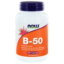 100 capsules NOW Foods Vitamine B-Complex B-50