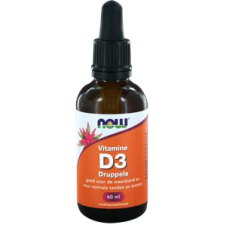 60 ml NOW Foods Vitamine D3 Druppels