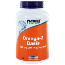 200 softgels NOW Foods Omega-3 Basis 180 mg EPA | 120 mg DHA