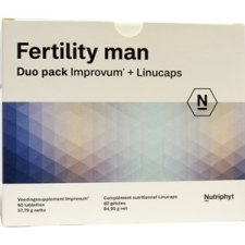 60 tabletten + 60  capsules Nutriphyt Fertility Man Duo Pack Improvum + Linucaps