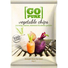 90 gram Go Pure Vegetable Chips Mixed Varieties