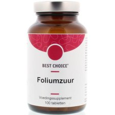 100 tabletten Best Choice Foliumzuur