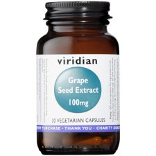30 capsules Viridian Grape Seed Extract 100 mg
