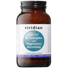 120 capsules Viridian B-Complex with Magnesium Ascorbate High Five