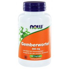100 capsules NOW Foods Gemberwortel 550 mg