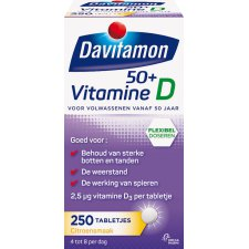 250 tabletten Davitamon Vitamine D 50+
