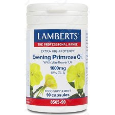 90 capsules Lamberts Evening Primrose Oil with Starflower Oil (Teunisbloemolie + Borageolie) 1000mg