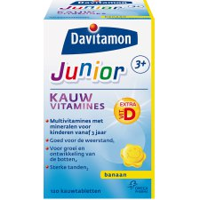 120 kauwtabletten Davitamon Junior Kauwvitamines Banaan
