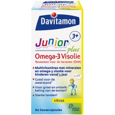 60 capsules Davitamon Junior Plus Omega-3 Visolie