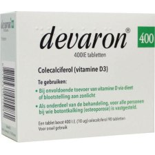 90 tabletten Devaron Vitamine D3 400IE