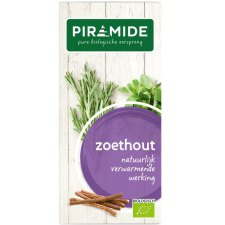 20 bag Piramide Zoethout Biologisch