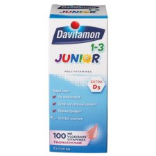 100 ml Davitamon Junior 1-3 Vloeibare Vitamines Framboos