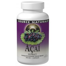 60 capsules Source Naturals Acai Extract
