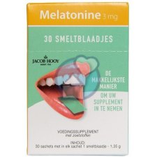 30 sachets Jacob Hooy Melatonine 3 mg Smeltblaadjes