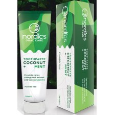 75 ml Nordics Oral Care Toothpaste Coconut Mint Fluoridevrij