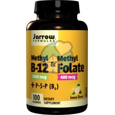 100 zuigtabletten Jarrow Formulas Methyl B-12 & Methyl Folate Lemon