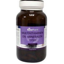 60 tabletten SanoPharm Multivitaminen en Mineralen Gold