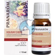 15 ml Pranarôm Les Diffusables - Verstuiving Holiday Cheer 100% Essentiële Olie Biologisch