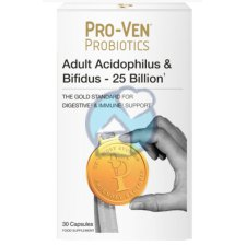 30 capsules Pro-Ven Probiotics Adult Acidophilus & Bifidus 25 Billion