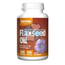 200 softgels Jarrow Formulas Flaxseed Oil 1000 mg