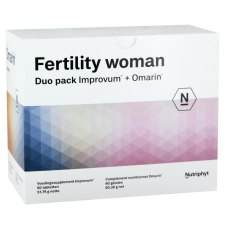 60 tabletten + 60 capsules Nutriphyt Fertility Woman Duo Pack Improvum en Omarin