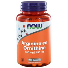 100 capsules NOW Foods Arginine en Ornithine 500 mg/250 mg