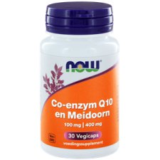 30 capsules NOW Foods Co-enzym Q10 met Meidoorn 100 mg | 400 mg