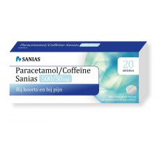 20 tabletten Sanias Paracetamol/Coffeïne 500/50 mg