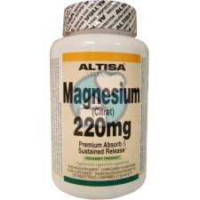 100 tabletten Altisa Magnesium (Citrat) 220 mg