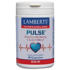90 capsules Lamberts Pulse Pure Fish Oil 1300 mg + CoQ10 100 mg