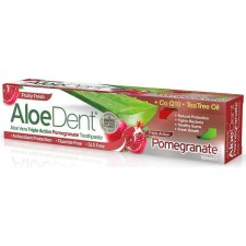 100 ml AloeDent Aloe Vera Triple Action Pomegranate Toothpaste Fluoride Free
