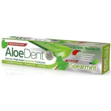 100 ml AloeDent Aloe Vera Triple Action Spearmint Toothpaste Fluoride Free