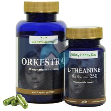 2 x 60 capsules All Day Happy Day Orkestra & L-Theanine Fortissimo