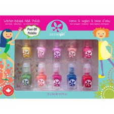 10 x 2 Ml Suncoat Girl Water-Based Nail Polish + Stickers