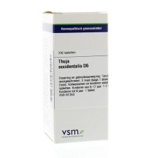200 tabletten VSM Enkelvoudige Homeopathie Thuja Occidentalis D6