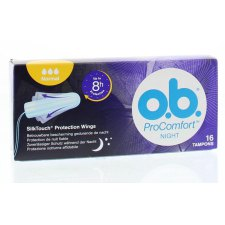 16 stuks Ob Tampons ProComfort Night SilkTouch Normal