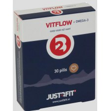 30 capsules Just2Bfit 2B Vitflow + Omega 3