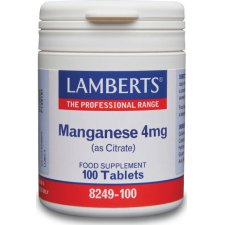 100 tabletten Lamberts Mangaan 4mg