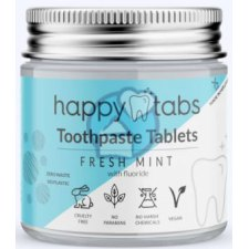 50 gram Happy Tabs Toothpaste Tablets Fresh Mint with Fluoride