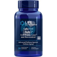 30 capsules Life Extension NAD+ Cell Regenerator and Resveratrol