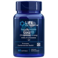 60 softgels Life Extension Super-Absorbable CoQ10 100 mg with d-Limonene