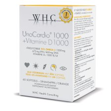 60 softgels WHC UnoCardio 1000+Vitamine D1000